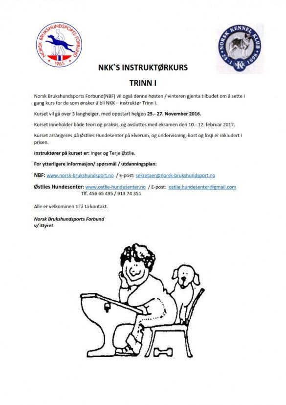 2016 NKKs instruktørkurs trinn 1