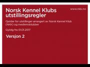 OBS: Nye utstillingsregler pr. 01.01.2017 fra Norsk Kennel Klub