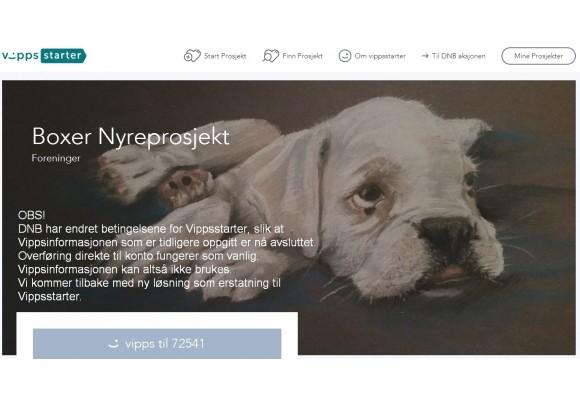 Boxer Nyreprosjekt - med oppdatering innsamlede midler pr. 13. februar 2017