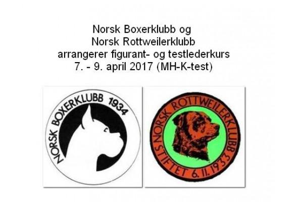 Norsk Boxerklubb og Norsk Rottweilerklubb arrangerer figurant- og testlederkurs i april 2017