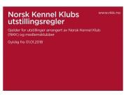 NKK lanserte nye utstillingsregler fra 01.01.2018