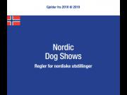 Regler for nordiske utstillinger til og med 2019