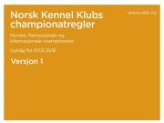 Championatregler pr. 01.01.2018 - Norske, flernasjonale og internasjonale championater - versjon 1
