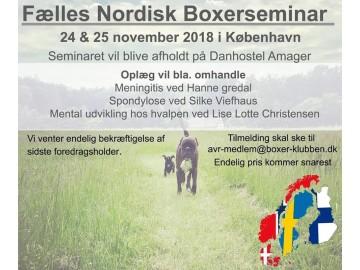 Felles Nordisk Boxerseminar i København 24. - 25. november 2018