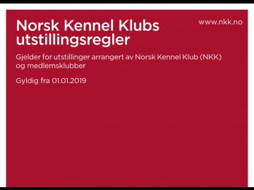 Nye utstillingsregler fra NKK pr. 01.01.2019