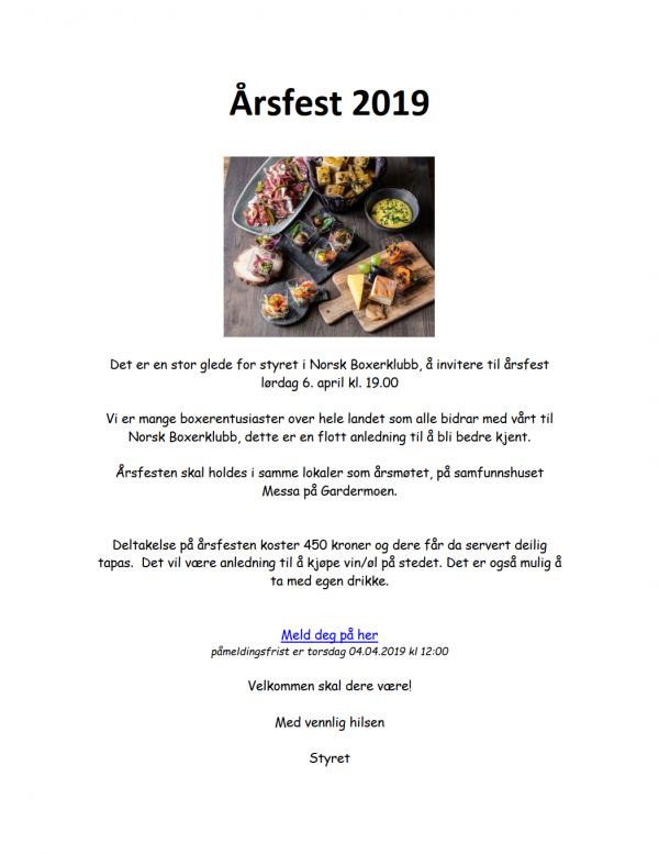 2019-Årsfest