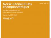 Championatregler pr. 01.01.2019 - Versjon 2