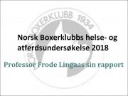 Helse- og atferdsundersøkelsen 2018/2019 - professor Frode Lingaas sin rapport