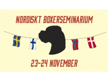 Nordisk Boxerseminar 23. - 24. november 2019 i Stockholm