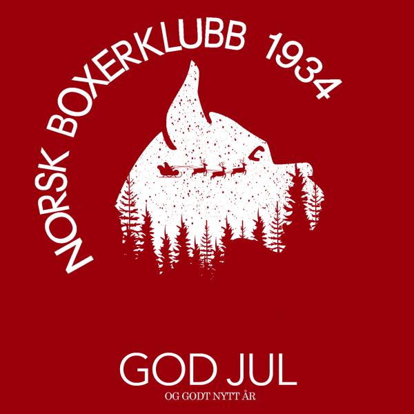 Illustrasjon med julehilsen fra Norsk Boxerklubb